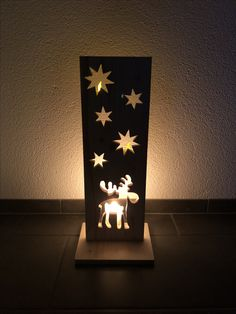 flooringtimber flooring My second Christmas decoration, now with a moon that lights up from behind with LEDs . Christmas Wood Crafts, Christmas Projects, Christmas Home, Christmas Decorations, Christmas Ornaments, Tissue Paper Crafts, Wooden Crafts, Crafty Craft, Diy Crafts To Sell
