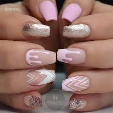 Nail Art Designs, Pretty Nail Designs, Acrylic Nail Designs, Nails Design, Pink Acrylic Nails, Acrylic Nail Art, Glitter Nails, Gold Glitter, Trendy Nails