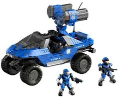 Amazon.com: Halo Mega Bloks Set #97159 Blue Series Rockethog: Toys & Games