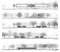 Propuesta finalista del Museo Bauhaus apuesta a ser un puente entre la ciudad y el parque,Secciones/Cortes