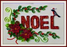 Gorgeous quilled Christmas greetings by Anastasia Annie Wahalatantiri, via Flickr