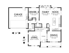 First Floor Plan image of Featured House Plan: BHG - 2562