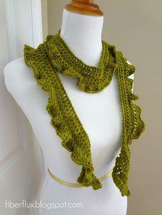 Fiber Flux...Adventures in Stitching: Free Crochet Pattern... Arugula Scarf