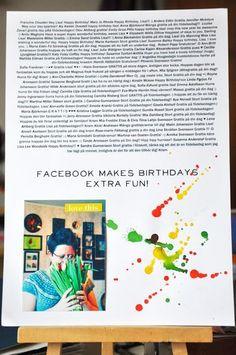 Love the idea of documenting birthday love through facebook! By Lisa Ottoson.