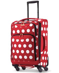 """Disney Minnie Mouse Polka Dot 21"""" Spinner Suitcase by American Tourister"""