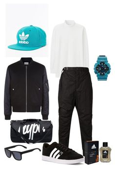 """""""sports"""" by tanusree-debdas on Polyvore featuring adidas, Sandro, Uniqlo, Hype, The Viridi-Anne, Lacoste, G-Shock, men's fashion and menswear"""