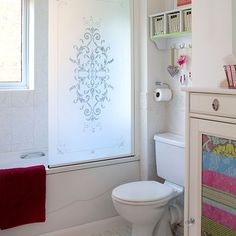 White bathroom with delicate patterns | Bathroom decorating | housetohome.co.uk