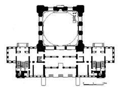 Dolmabahçe Cami, İstanbul. Plan (S. Batur)