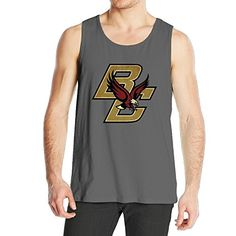 c4c361bf45e Amazon.com  Men s BC Boston College Eagles Charcoal Arch Over Logo Tank Top   Clothing