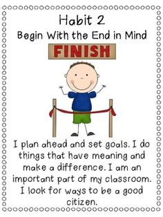Classroom Printable Posters, 7 Habits Inspired, Leader in Me ...