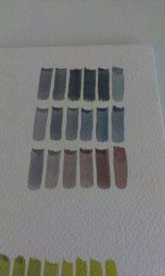 Hand mixed greys (no black)