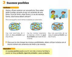 Sucesos posibles - Matemáticas 2º ciclo de primaria