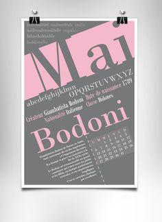 Création d'un calendrier sur le thème de la typographie.