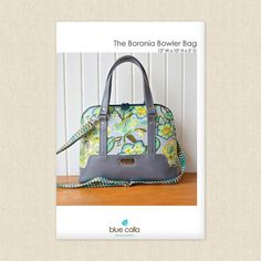 The Boronia Bowler Bag Sewing Pattern by Blue Calla at Hawthorne Supply Co Bag Patterns To Sew, Sewing Patterns, Sewing Essentials, 5 D, Drawstring Backpack, Purses And Bags, Gym Bag, Wallet