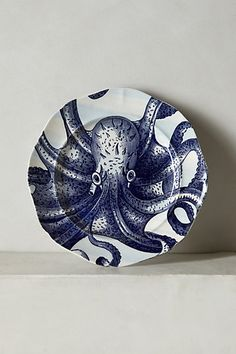 Anthropologie EU From The Deep Salad Plate, Octopus