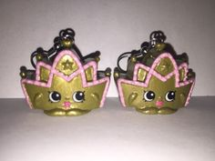 Shopkins Foodie Earrings  Ballet Tiara  repurposed toys by ErinEtc