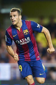 Desde la cantera del azulgrana, el delantero español Sandro Ramírez: La Liga.