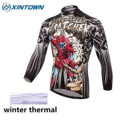 27.53$  Watch here - http://ai2ll.worlditems.win/all/product.php?id=32783502605 - XINTOWN Winter Thermal Fleece Cycling Jersey Clothing Skeleton Bicicleta Jacket Men Windproof Mtb Bike Warm Bicycle Clothes