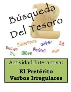 Spanish Classroom Scavenger Hunt Activity: Irregular Verbs