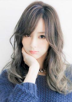 2015ヘアカラー透明感アッシュグラデーションカラー☆sherry