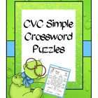 Use these simple crossword puzzles in your literacy centers and engage your kids in a different kind of CVC revision activity.  This resource conta...