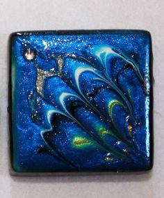 Abstract Handpainted Glass Mini Art Tile Painting by Lynndart, $10.00 The Goblin Market Haunted Holiday San Diego #goblinmarketsandiego