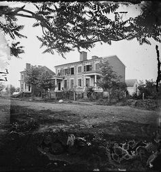 Houses Damaged by the Shelling of December 13, 1862  - Fredericksburg, VA, May 1864