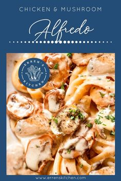 This quick and easy recipe for Chicken Mushroom Alfredo is an indulgent meal that will impress your guests.