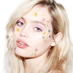 #festival #makeup Today on #beautyisboring.com, Spring 2015 with musician, muse and model @yostazyo. Makeup credits: @chantecaille @dior and pastel floral tattoos courtesy of @paperself