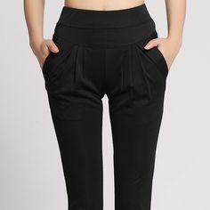 74fdd759eb627 Women plus size harem pant lady full length leggings sexy high waist