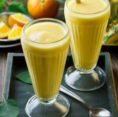 Orange Pineapple Smoothies   #vegan #cleaneating #glutenfree