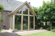 Constructiebureau Keetels - Aanbouw hout/glas Building Renovation, House Extensions, Prefab, House Front, Tiny House, Gazebo, Sweet Home, New Homes, Outdoor Structures