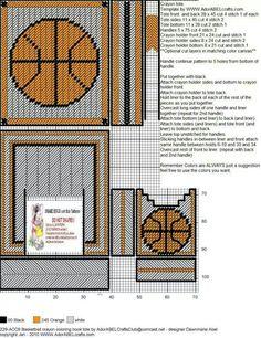 Basketball Crayon Coloring Book Tote