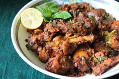 Chicken is my husband favorite dish. Specially if it is fried chicken, he will be praising me the whole day for it. But i stay away from. Indian Chicken Recipes, Veg Recipes, Indian Food Recipes, Asian Recipes, Vegetarian Recipes, Recipes Dinner, Onion Chicken, Fried Chicken, Chicken Specials