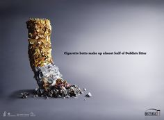 Dublin City Council Anti-Littering Campaign: Butts Are Litter Too #cigarette #advertising