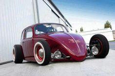 One beautiful old school hot rod VW