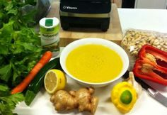 Thai Ginger Soup made in the Vitamix