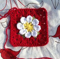 Tejer Una abuelita Daisy Square Tutorial - Teresa Restegui http://www.pinterest.com/teretegui/ ✔
