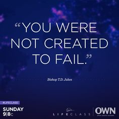 Oprah and Bishop T.D. Jakes are teaching us to trust our instincts when it comes to pursuing the things we want in life. Join us for #Lifeclass, Sunday at 9/8c.