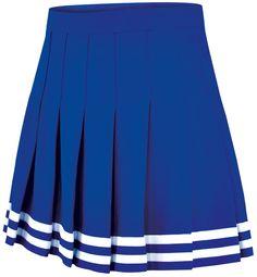 Double-Knit Knife-Pleat Cheerleading Uniform Skirt