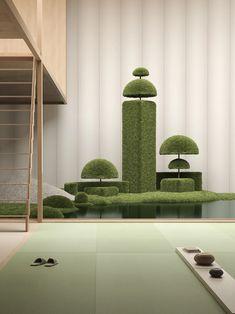 3d Architecture, Japanese Architecture, Japanese Landscape, Projection Installation, Scandinavian Chairs, Classical Elements, Garden S, Landscape Design, Garden Design