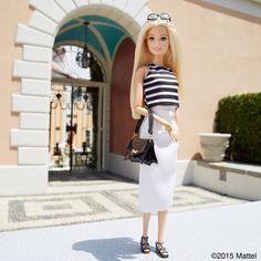 Heading to lunch al fresco!  #barbie #barbiestyle