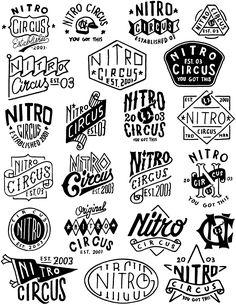 Lincoln Design Co. is a brand design and creative agency located in Portland, Oregon. Nitro Circus, Typography Inspiration, Graphic Design Inspiration, Typography Letters, Lettering, Typography Layout, Mise En Page Portfolio, Vintage Logo Design, Vintage Logos