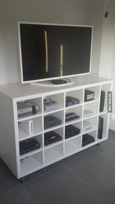 50 Video Game Room Ideas to Maximize Your Gaming Experience - Video Game Room Ideas to Maximize Your Gaming Experience - Video Game Organization, Video Game Storage, Video Game Shelf, Board Game Storage, Console Storage, Console Cabinet, Console Tv, Storage Bins, Gaming Room Setup