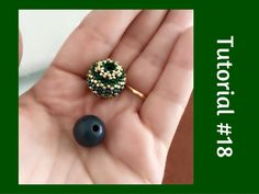 TUTORIAL PERLINE [18] - Chicca Bead, sfera rivestita con perline. (Beaded Bead tutorial) - YouTube