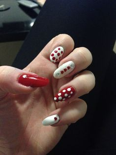 Red and white polka dots :)