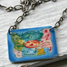 The Land of Stories Necklace by BeanDoll on Etsy,