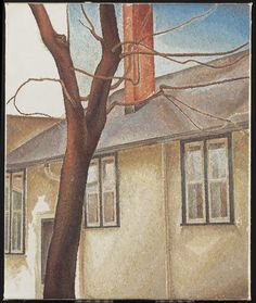 House and Tree (unfinished), c. LeMoine FitzGerald, Canadian, 1890 - on canvasOverall: x cm Canadian Group of Seven Franklin Carmichael, Tom Thomson, Art Gallery Of Ontario, Emily Carr, Group Of Seven, Canada Images, Art Watercolour, Canadian Artists, Art Day