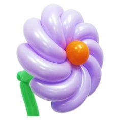 Спиральный цветок из воздушных шаров. Видео: https://youtu.be/-dphM06K57k Цветы из воздушных шаров, flower from balloons