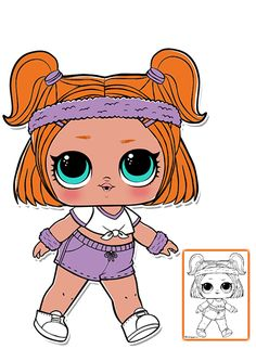 LOL Surprise Doll Coloring Pages - Página 3 - Colora a sua boneca de surpresa LOL favorita!